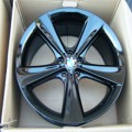 "JUAL BMW X5 21"" OEM Factory Staggered Wheels Spider Spoke 128 E70 BLACK ORIGINAL Termurah"